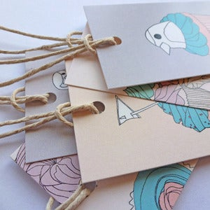 Image of Bird and Cupcake Gift Tags