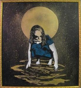"Image of ""Moonstruck"" Montana Gold Spray Paint on Canvas by Grafter"