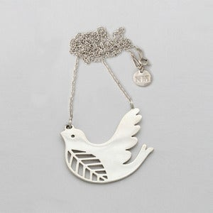 Image of Dove Necklace | Silver {FREE SHIPPING}