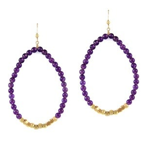 Image of semi precious stone earrings