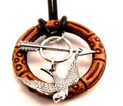 "Image of Katniss Arrow MockingJay Necklace inspired by ""The Hunger Games Jewelry"""
