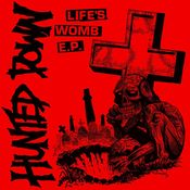 "Image of Hunted Down ""Life's Womb"" 7"" Second Pressing on BONESPLATTER VINYL"