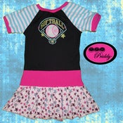 Image of Softball Diamond Dress - Size 5T/6