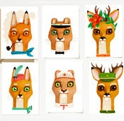Image of &quot;ANIMALI&quot; card set | 6pcs