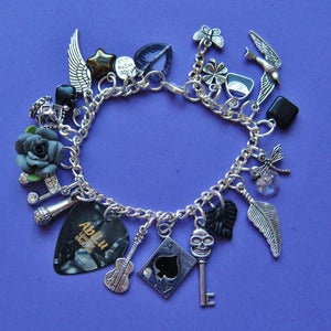 Image of Ace of Spades Plectrum Charm Bracelet