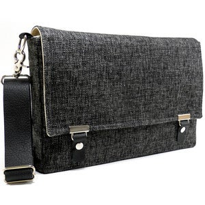 "Image of 13"" / 15"" / 17"" Laptop messenger bag in dark gray tweed"