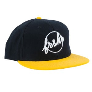 Image of Fresher Logo Snapback (Black/Yellow)
