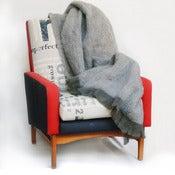 Image of slate mohair throw