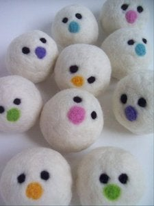 Image of Laundry Dryer Balls - Set of three (Faces)