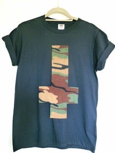 Image of Inverted Camo Cross Black Tshirt