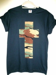 Image of Camo Cross Black Tshirt