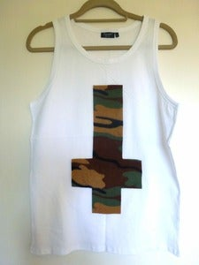Image of Inverted Camo Cross White Vest