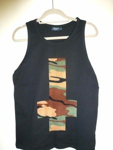 Image of Inverted Camo Cross Black Vest