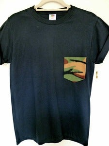 Image of Camo Pocket Effect Black Tshirt