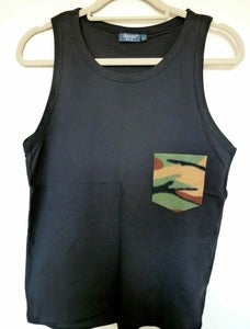 Image of Camo Pocket Effect Black Vest