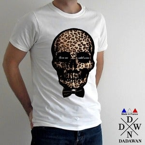 Image of Scio Me Nihil Scire Leopard Skull - T-shirt Made in France