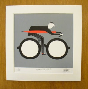Image of The Commuter screen print by Rebecca J Kaye