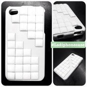 Image of The White Out Studded Iphone 4 case
