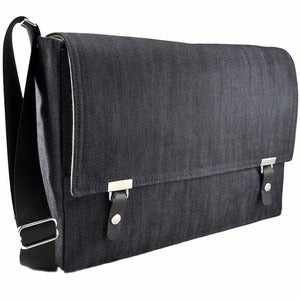 "Image of Messenger bag for 11"" / 13"" MacBook Air in dark denim"