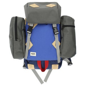 Image of Nylon Ruck Sack - Blue/Grey