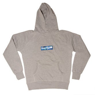 Image of GV Hoody ( grey ) + Bleu Camo Badge