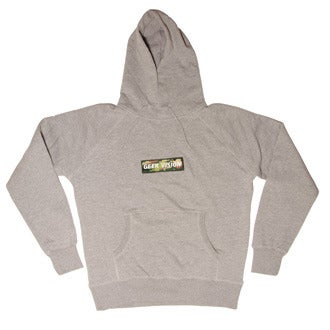 Image of GV Hoody ( grey ) + Green Camo Badge
