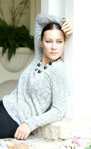Image of heather long sleeve crew neck