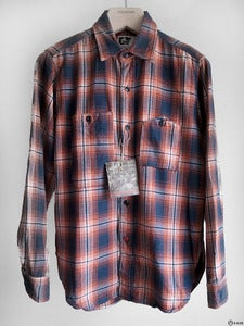 Image of Engineered Garments - Red/Navy Plaid Work Shirt