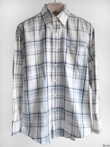 Image of Thom Browne - Snap Button Down Plaid Shirt