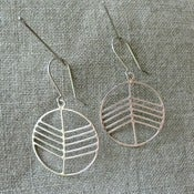 Image of up and down earrings - silver