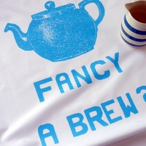 Image of Fancy a Brew? tea towel - sky