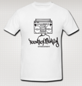 Image of Boombox Family Entertainment T-Shirt White