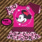 Image of Minnie Mouse Pink Flower Dress - Size 18-24 months