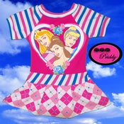 Image of I Heart Disney Princesses Aurora, Belle, and Cinderella - Size 6-12 months