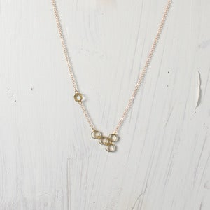 Image of Asymmetrical Hexagon Molecule Necklace