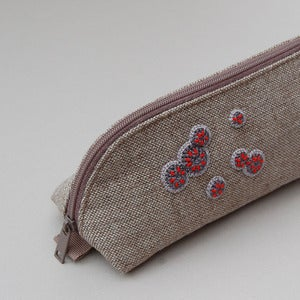 Image of Upcycled pencil case with mould decoration