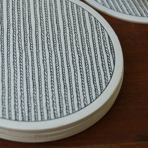 Image of Letterpress Rope Coasters
