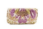 Image of Kate Clutch - Ikat with Lavendar Embellishment