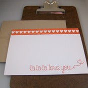Image of la la love you letterpress card