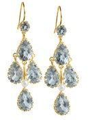 Image of Kara Ackerman <i> Elizabeth <i/> Chandelier Earrings in Aquamarine and 14k Yellow Gold