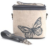 Image of So Young Mother Large Cooler Bag - Grey Butterfly