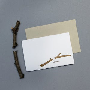 Image of oh snap letterpress card