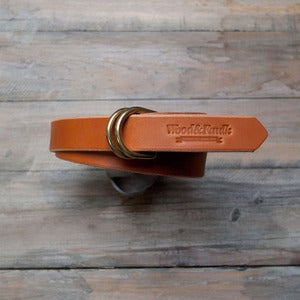 Image of W&F D-Ring Belt - 1in Tan/Chrome