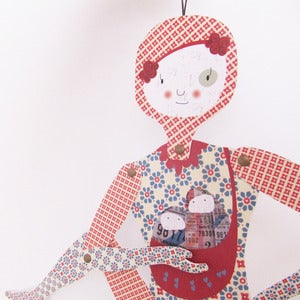Image of Lucía, articulated paper doll