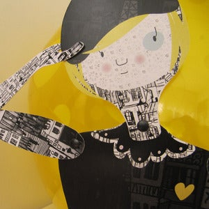 Image of París, articulated paper doll