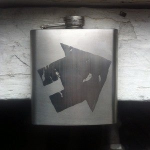 Image of Sideways House Flask *BACK IN STOCK*
