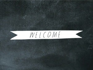 Image of welcome ribbon