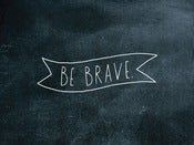 Image of be brave ribbon