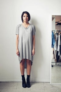 Image of Curved Hem T Dress