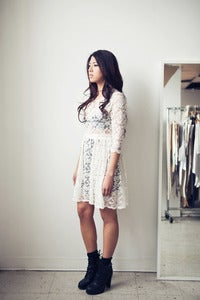 Image of Lace Gathered Dress